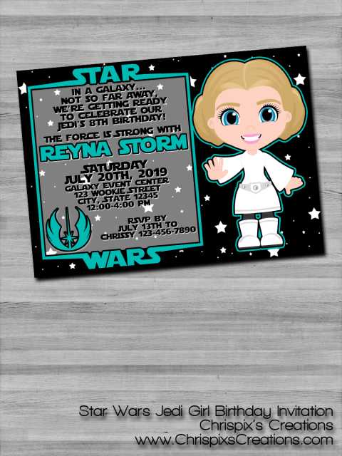 Do You Or Your Loved One LOVE Star Wars This Custom Jedi Birthday Invitation Print Is Perfect To Send Out For An Upcoming Bash
