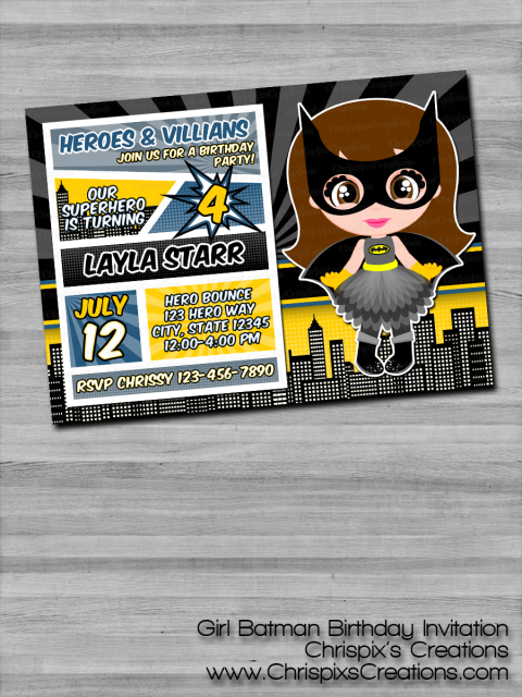 Do You Or Your Loved One LOVE DC Comics Batman From The Justice League This Custom Birthday Invitation Print Is Perfect To Send Out For An Upcoming